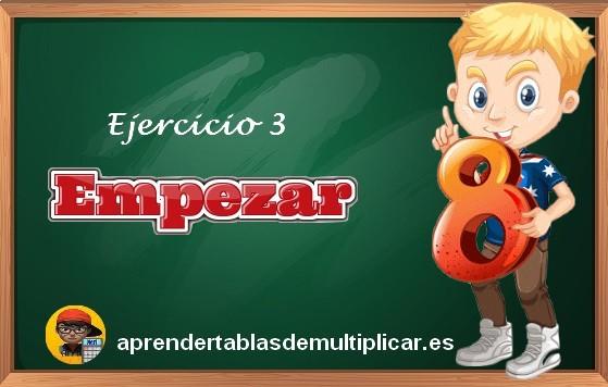 ejercicios tablas de multiplicar del 8