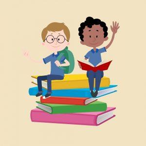 niños libros matermáticas