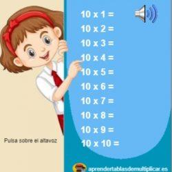 tabla del 10 con voz