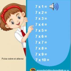 tabla del 7 con voz